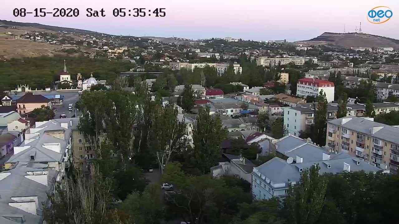 Веб-камеры Феодосии, Обзорная, 2020-08-15 05:35:56