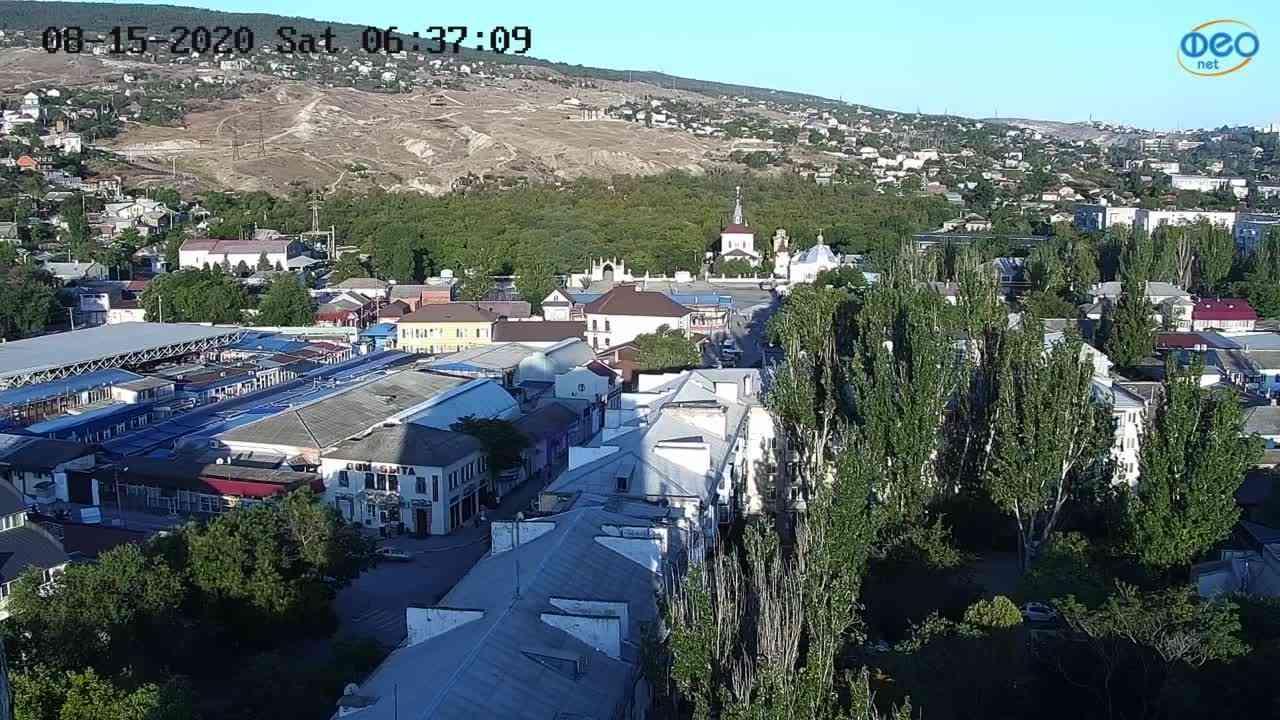 Веб-камеры Феодосии, Обзорная, 2020-08-15 06:37:23