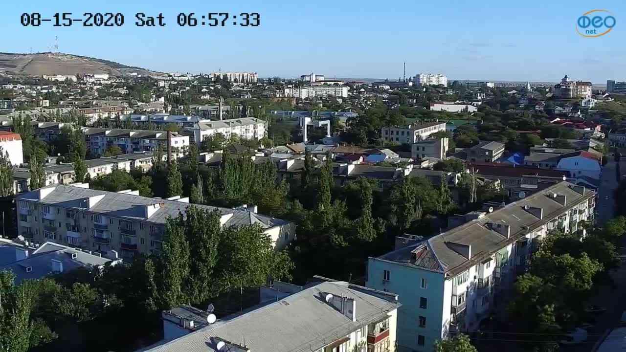 Веб-камеры Феодосии, Обзорная, 2020-08-15 06:57:45