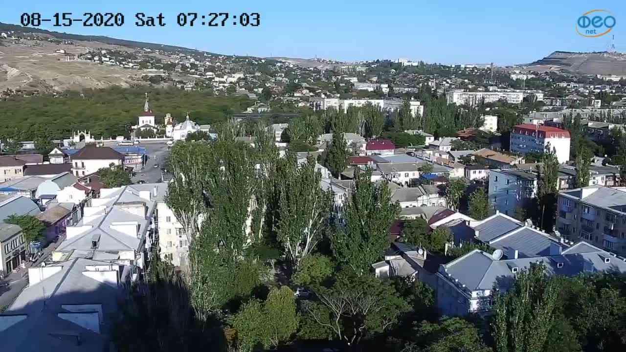 Веб-камеры Феодосии, Обзорная, 2020-08-15 07:27:13