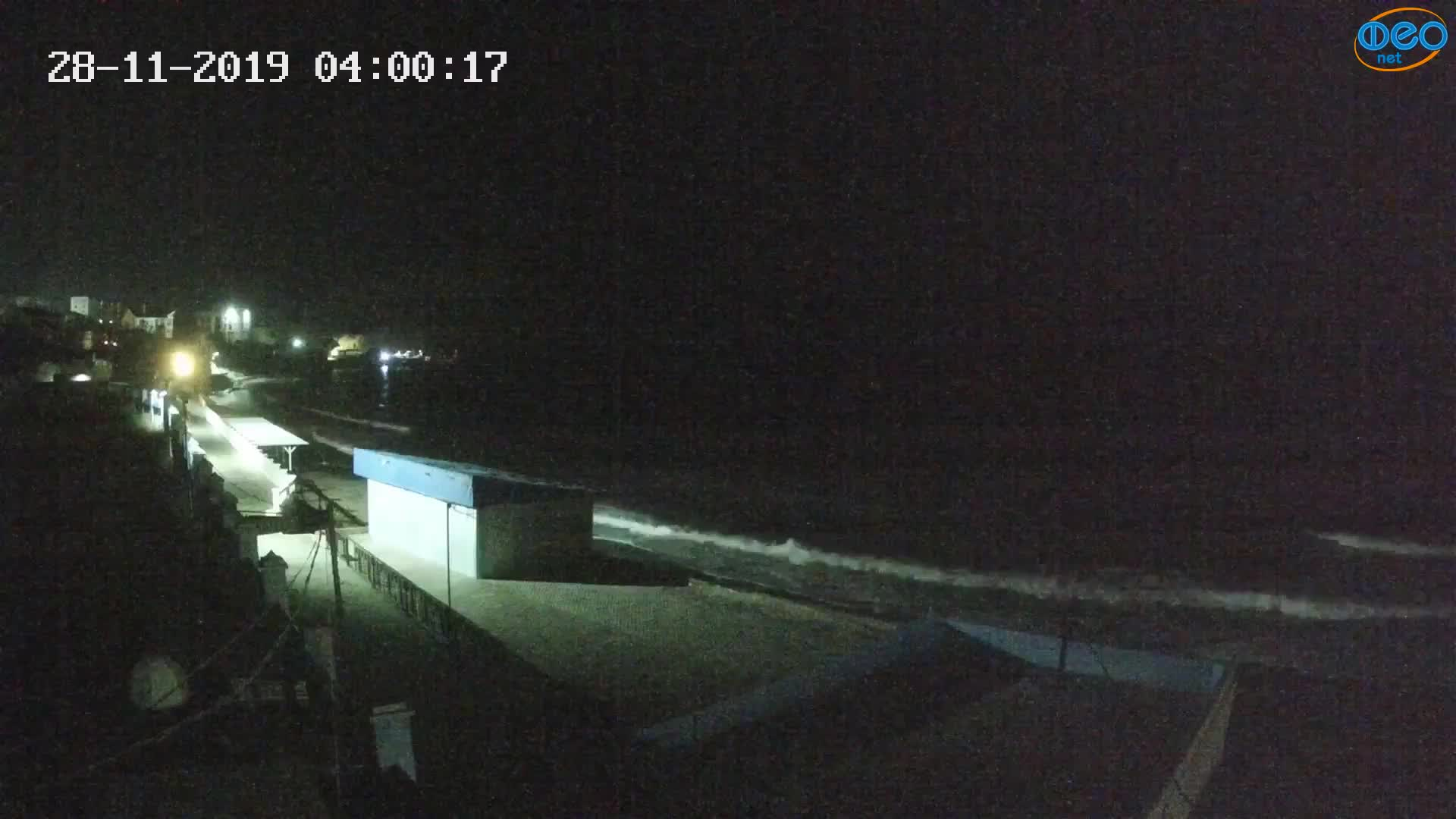 Веб-камеры Феодосии, Орджоникидзе - набережная - вид на Васюковку, 2019-11-28 04:00:41
