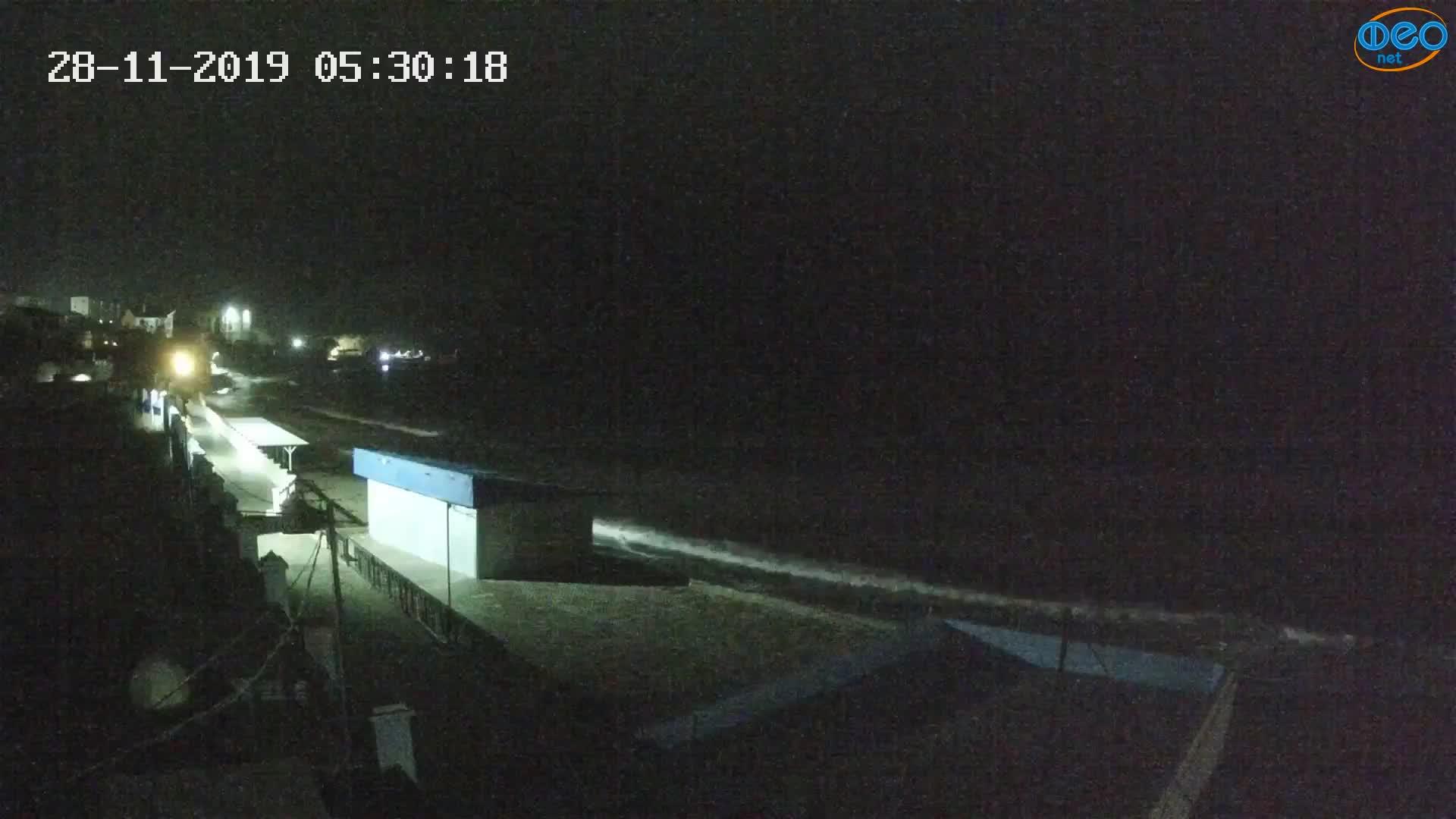 Веб-камеры Феодосии, Орджоникидзе - набережная - вид на Васюковку, 2019-11-28 05:30:41