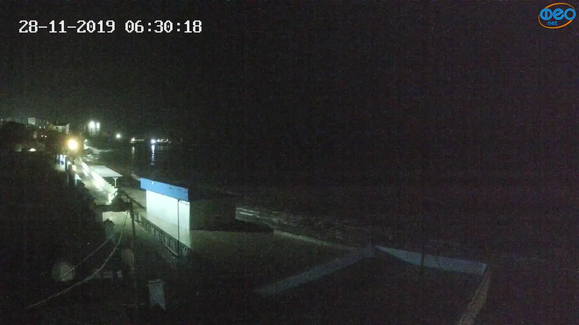 Веб-камеры Феодосии, Орджоникидзе - набережная - вид на Васюковку, 2019-11-28 06:30:38