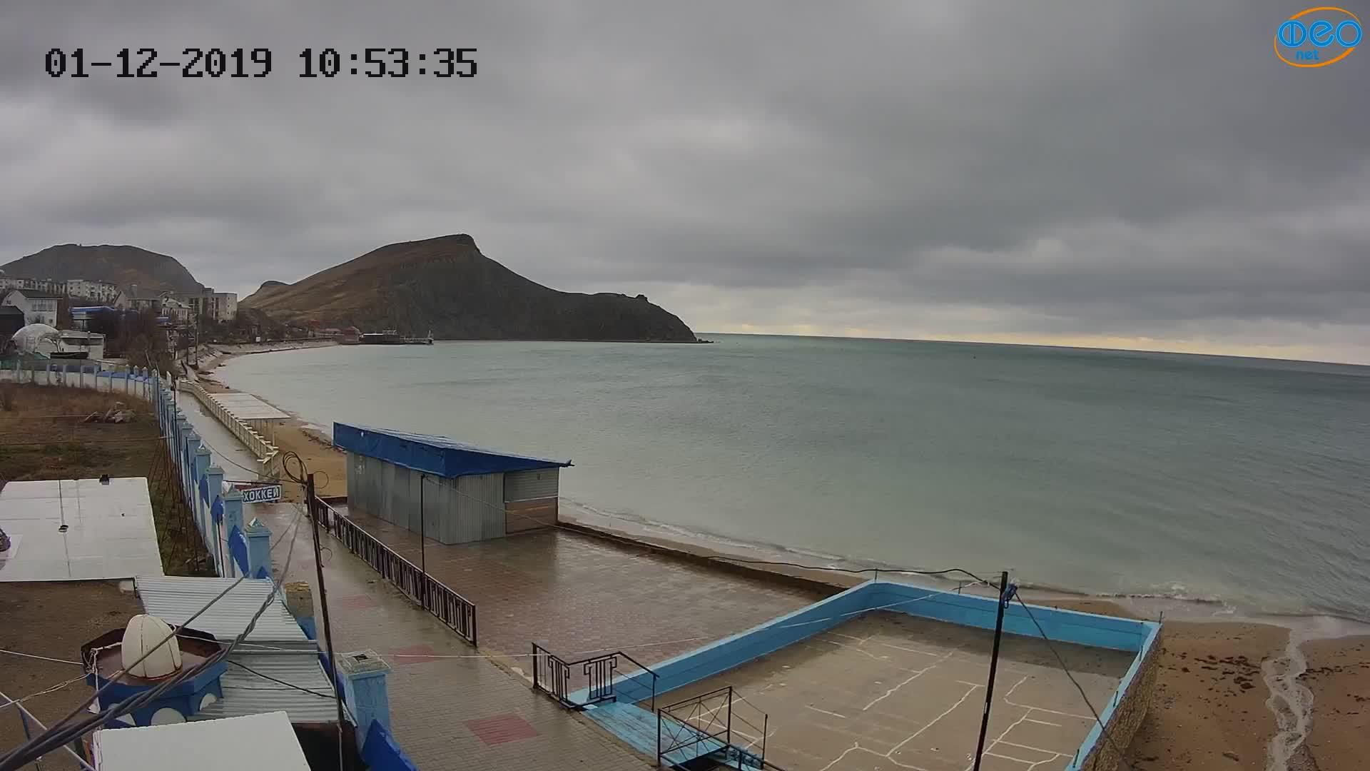 Веб-камеры Феодосии, Орджоникидзе - набережная - вид на Васюковку, 2019-12-01 11:15:45