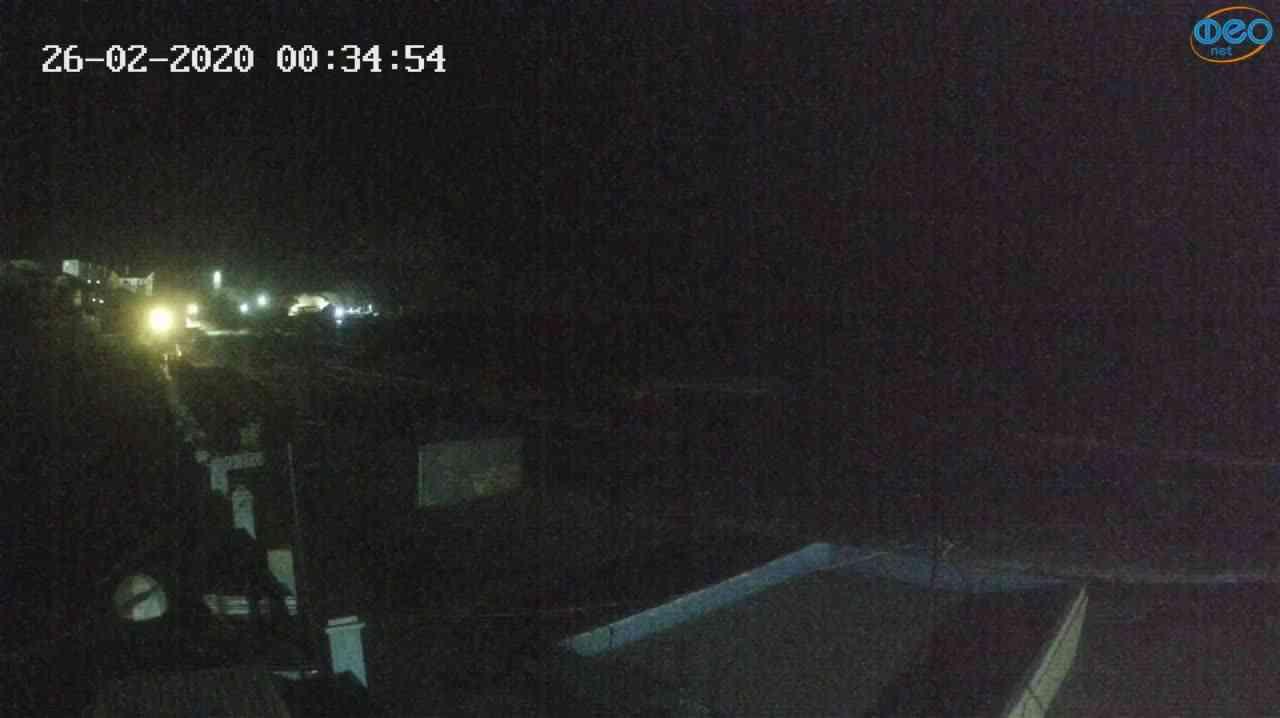 Веб-камеры Феодосии, Орджоникидзе - набережная - вид на Васюковку, 2020-02-26 00:35:25