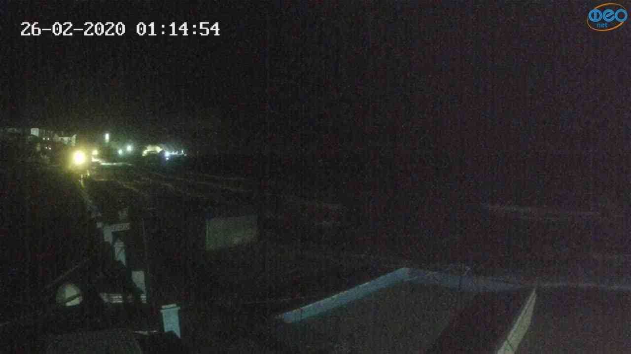 Веб-камеры Феодосии, Орджоникидзе - набережная - вид на Васюковку, 2020-02-26 01:15:26