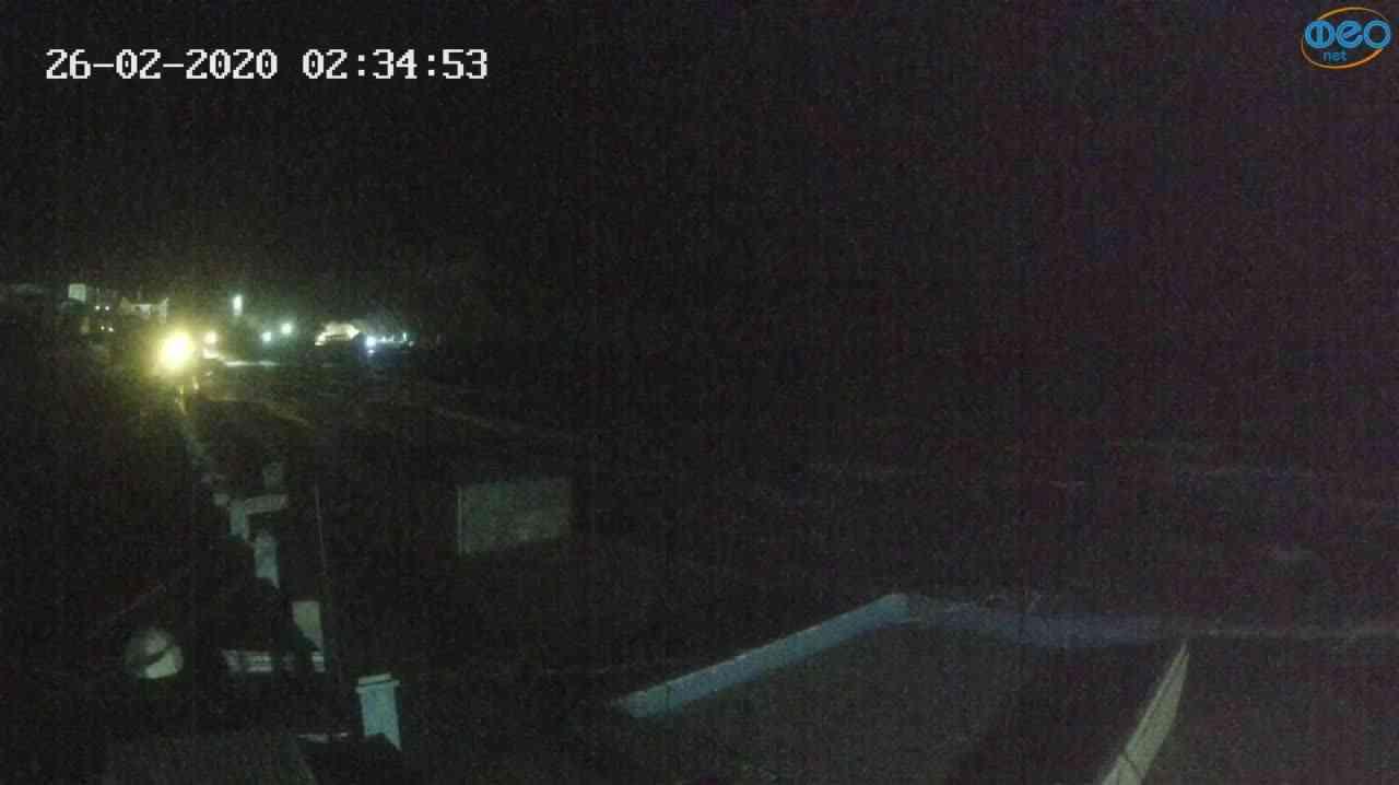 Веб-камеры Феодосии, Орджоникидзе - набережная - вид на Васюковку, 2020-02-26 02:35:26