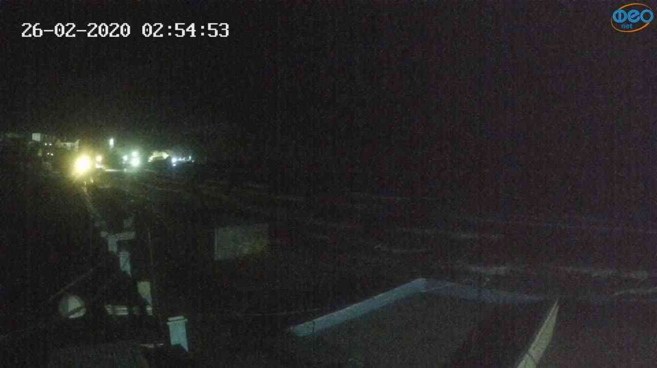 Веб-камеры Феодосии, Орджоникидзе - набережная - вид на Васюковку, 2020-02-26 02:55:26