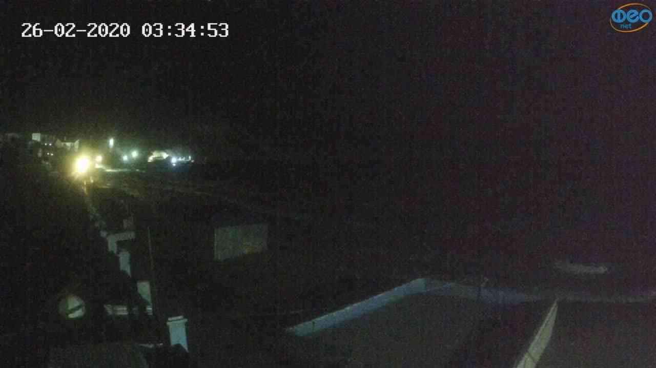 Веб-камеры Феодосии, Орджоникидзе - набережная - вид на Васюковку, 2020-02-26 03:35:27