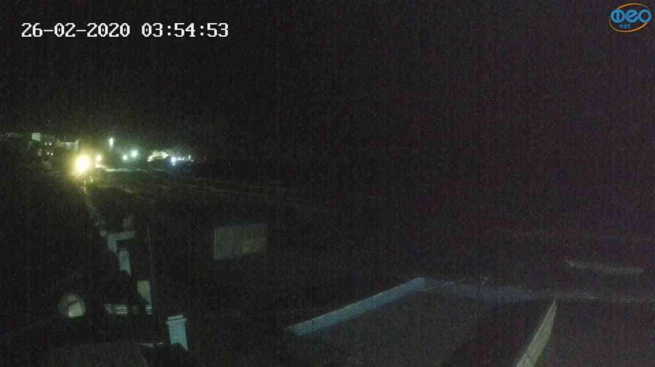 Веб-камеры Феодосии, Орджоникидзе - набережная - вид на Васюковку, 2020-02-26 03:55:26