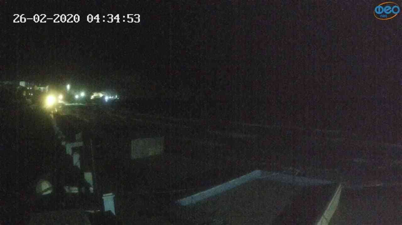 Веб-камеры Феодосии, Орджоникидзе - набережная - вид на Васюковку, 2020-02-26 04:35:26