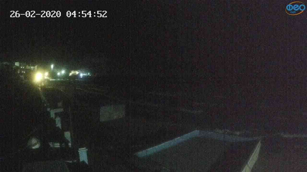 Веб-камеры Феодосии, Орджоникидзе - набережная - вид на Васюковку, 2020-02-26 04:55:26