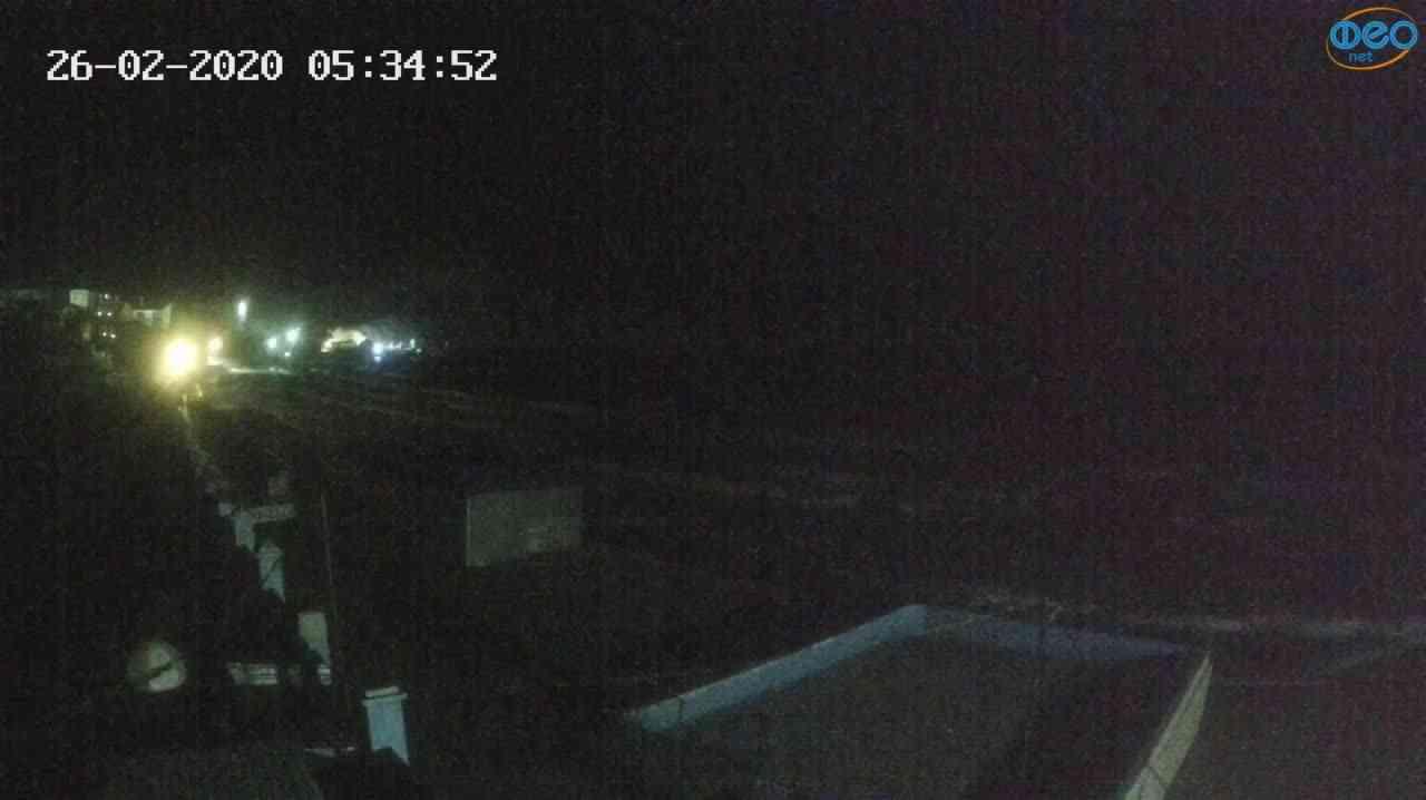 Веб-камеры Феодосии, Орджоникидзе - набережная - вид на Васюковку, 2020-02-26 05:35:25