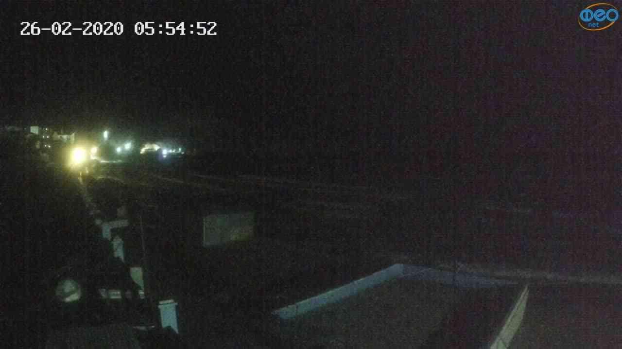 Веб-камеры Феодосии, Орджоникидзе - набережная - вид на Васюковку, 2020-02-26 05:55:25
