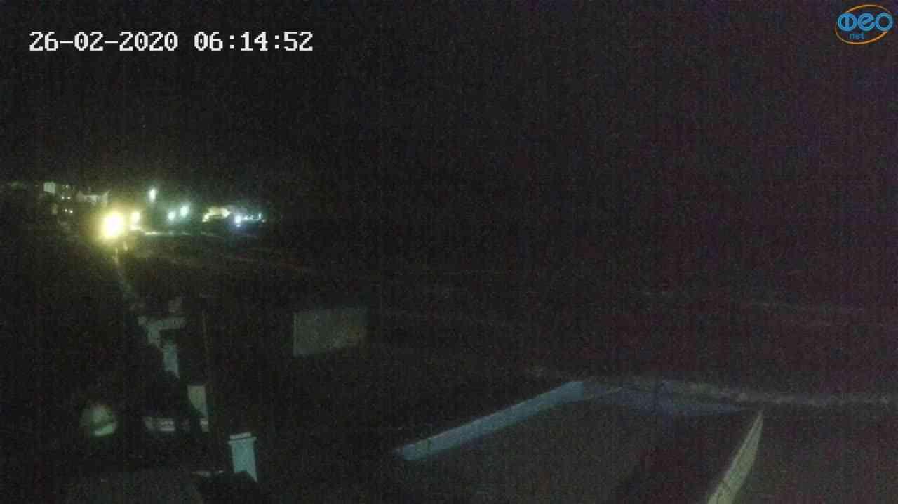 Веб-камеры Феодосии, Орджоникидзе - набережная - вид на Васюковку, 2020-02-26 06:15:25