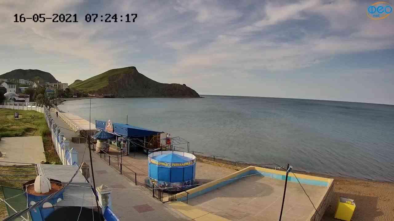 Веб-камеры Феодосии, Орджоникидзе - набережная - вид на Васюковку, 2021-05-16 07:24:32