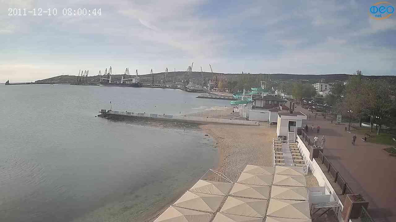 Веб-камеры Феодосии, Вид на порт и маяк, 2021-05-16 07:24:57