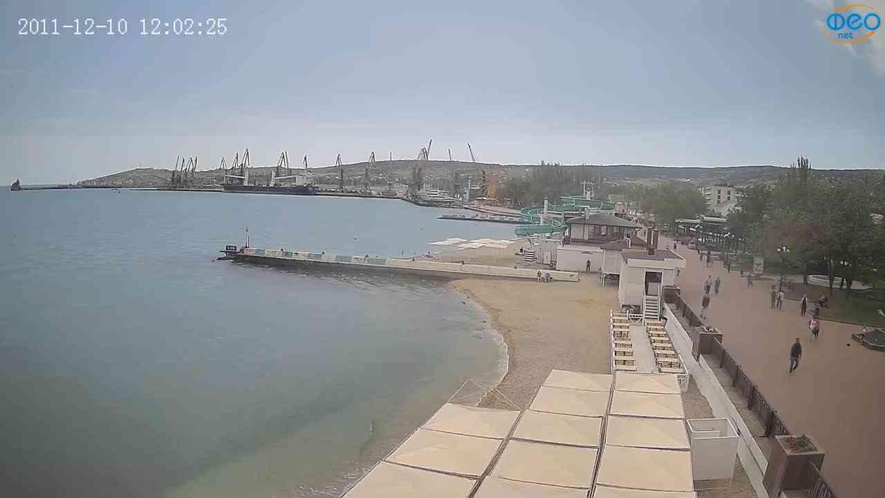 Веб-камеры Феодосии, Вид на порт и маяк, 2021-05-16 11:26:42