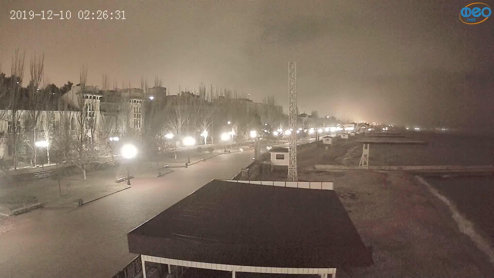 Веб-камеры Феодосии, Пляж Камешки, 2019-12-10 02:26:55