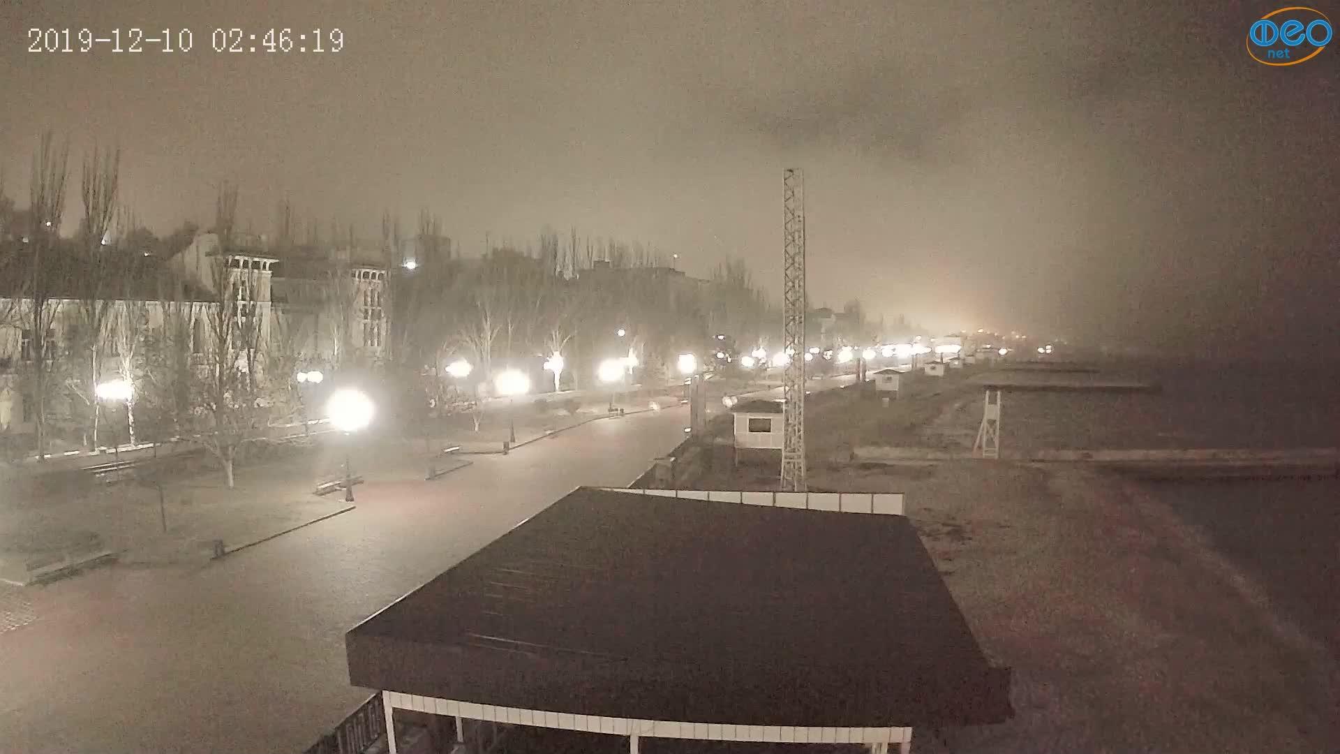 Веб-камеры Феодосии, Пляж Камешки, 2019-12-10 02:46:43