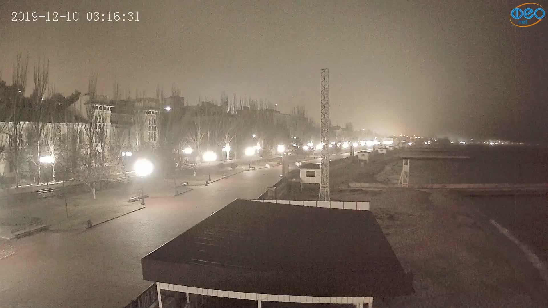 Веб-камеры Феодосии, Пляж Камешки, 2019-12-10 03:16:56