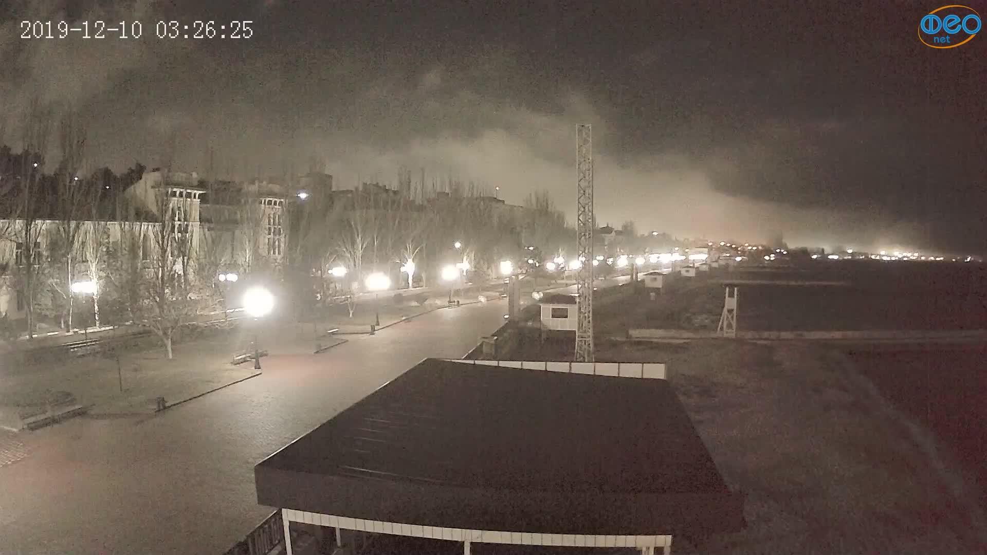 Веб-камеры Феодосии, Пляж Камешки, 2019-12-10 03:26:49