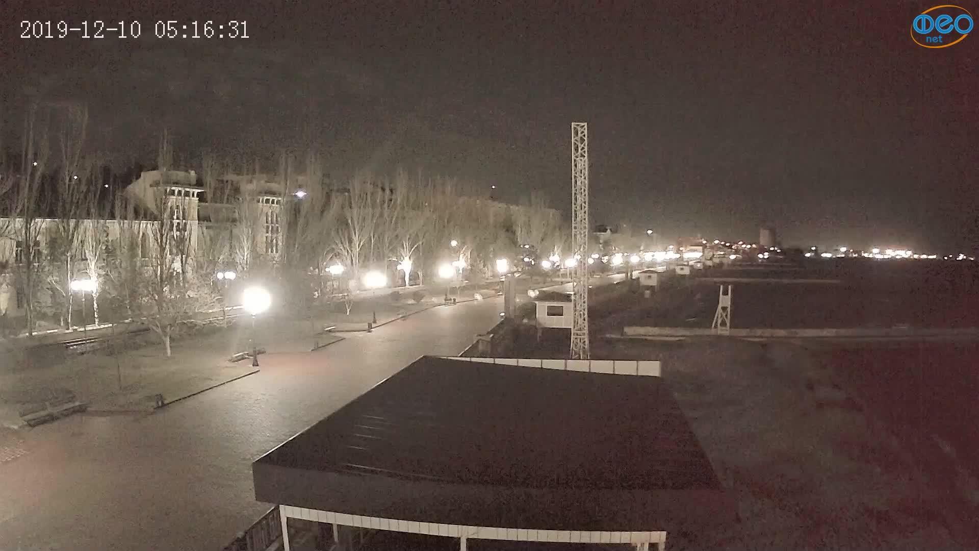 Веб-камеры Феодосии, Пляж Камешки, 2019-12-10 05:16:55