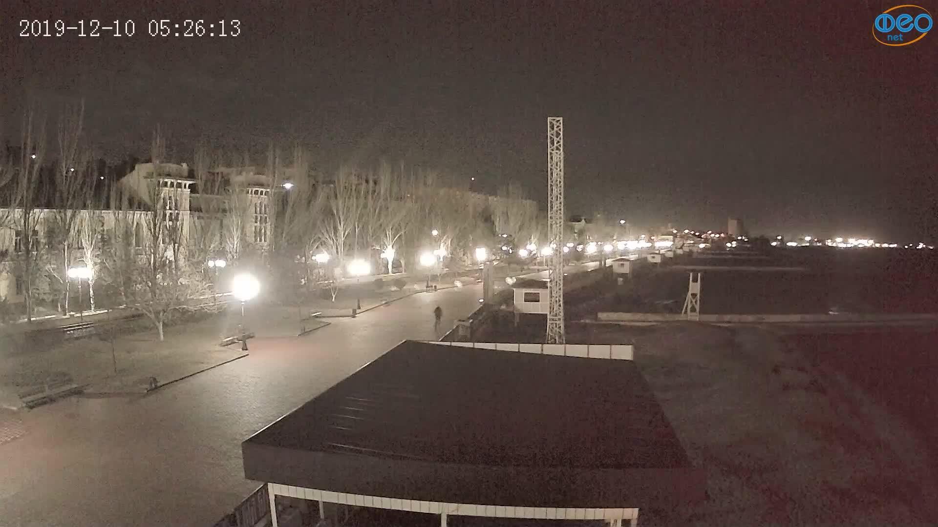 Веб-камеры Феодосии, Пляж Камешки, 2019-12-10 05:26:37
