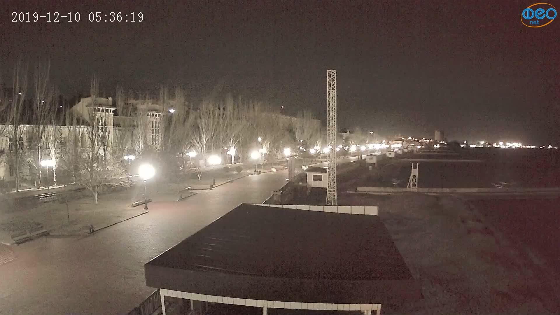 Веб-камеры Феодосии, Пляж Камешки, 2019-12-10 05:36:43