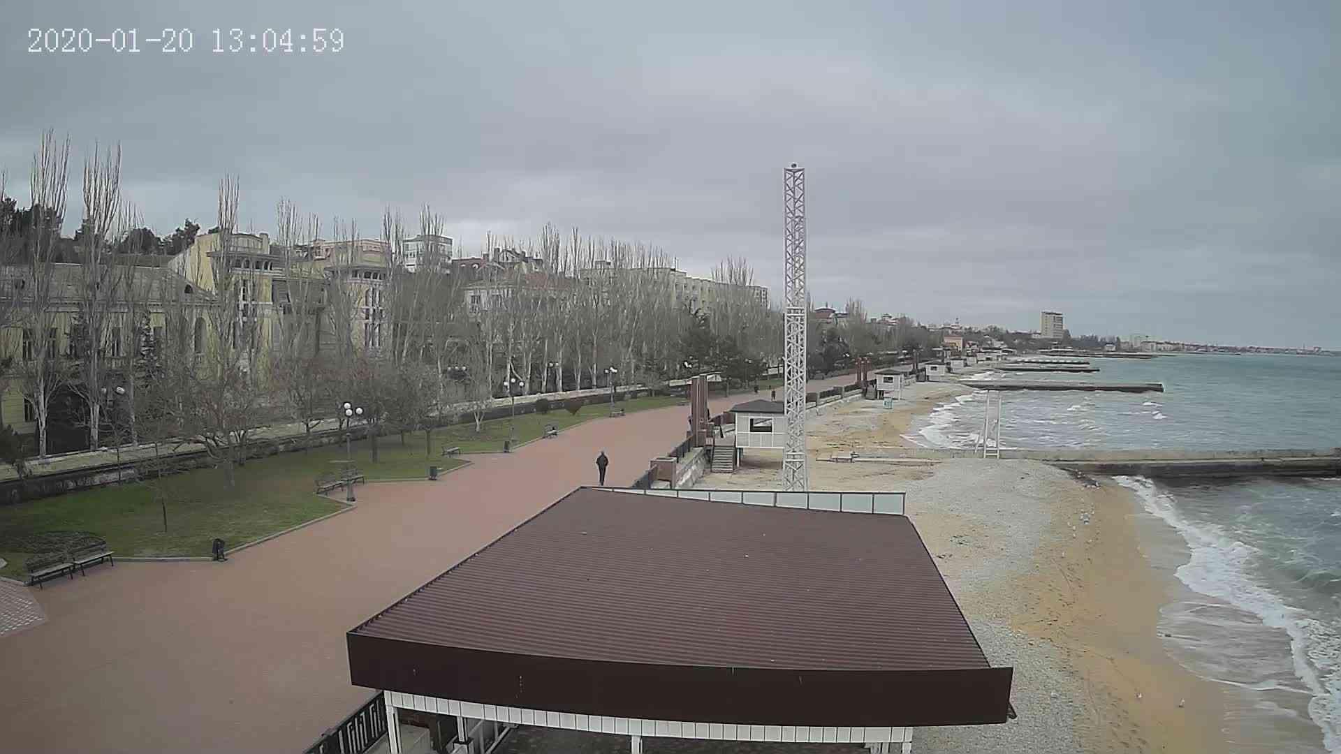 Веб-камеры Феодосии, Пляж Камешки, 2020-01-20 13:05:20