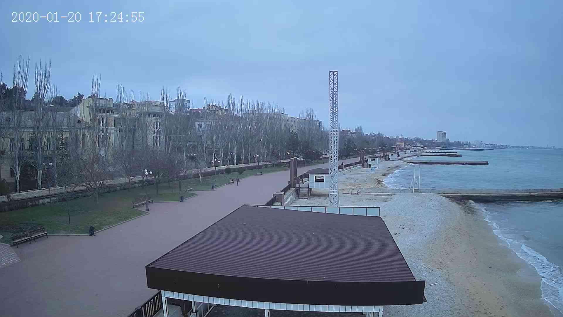 Веб-камеры Феодосии, Пляж Камешки, 2020-01-20 17:25:20