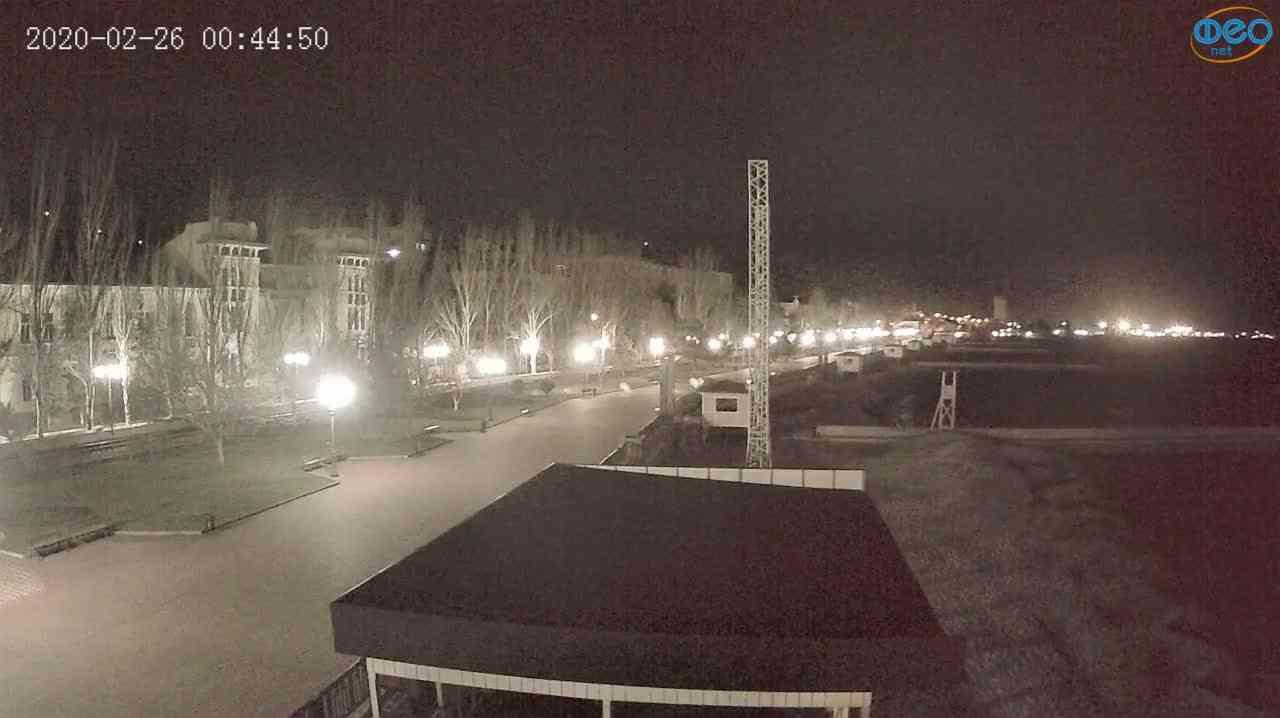 Веб-камеры Феодосии, Пляж Камешки, 2020-02-26 00:45:12
