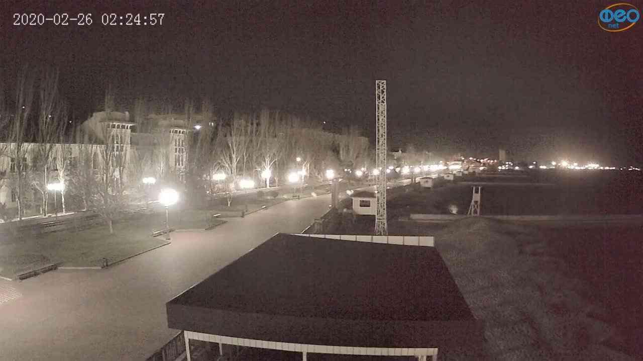 Веб-камеры Феодосии, Пляж Камешки, 2020-02-26 02:25:14