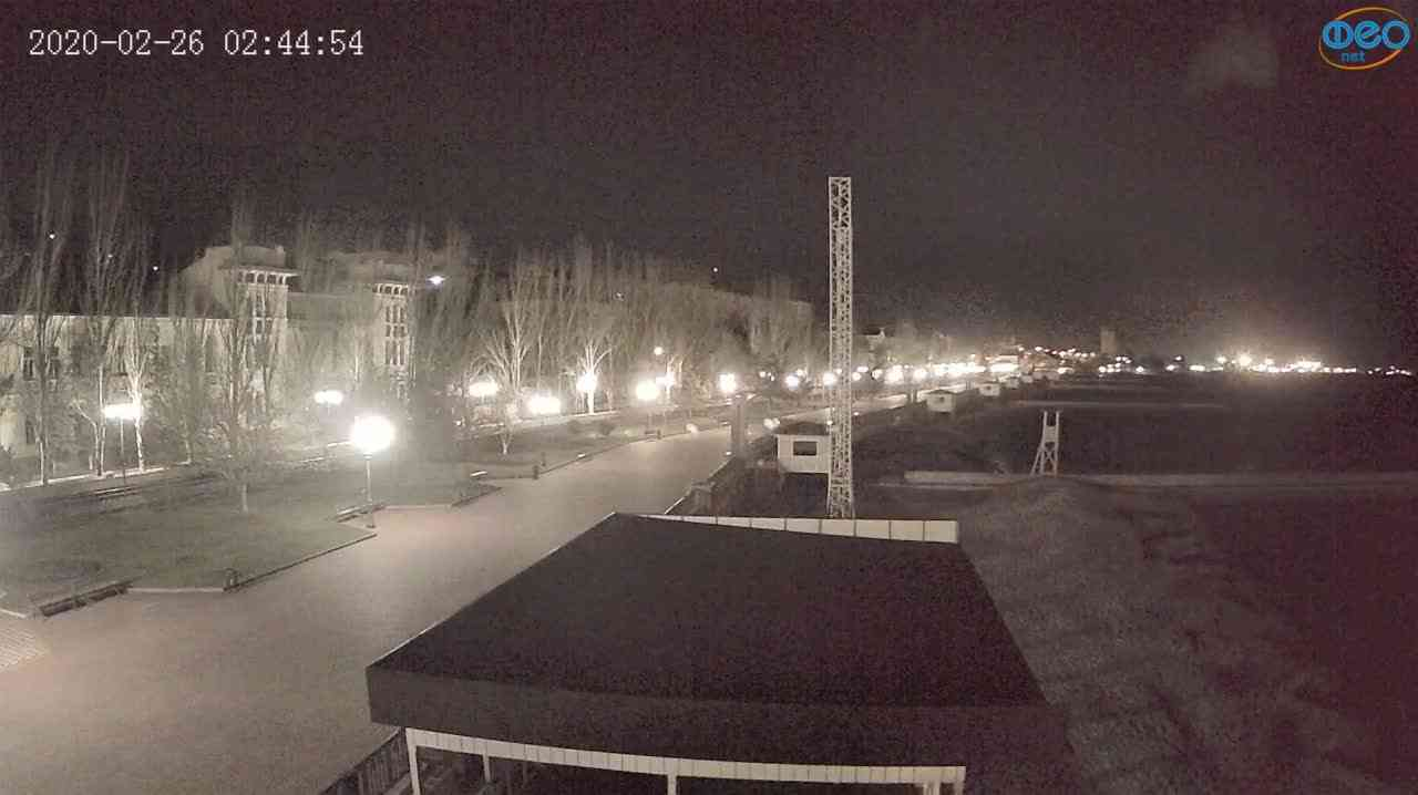 Веб-камеры Феодосии, Пляж Камешки, 2020-02-26 02:45:13