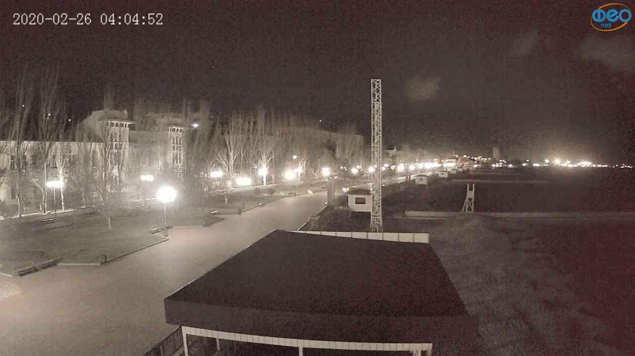 Веб-камеры Феодосии, Пляж Камешки, 2020-02-26 04:05:14