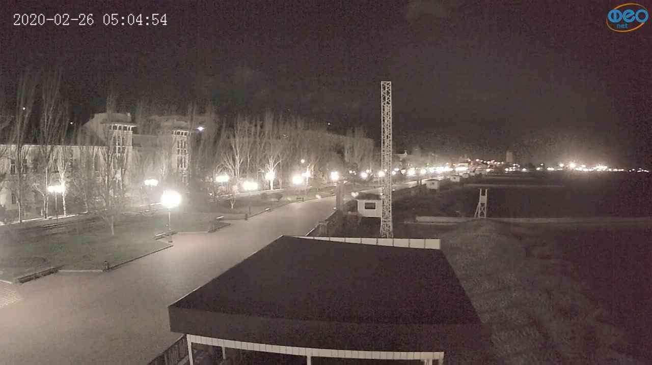 Веб-камеры Феодосии, Пляж Камешки, 2020-02-26 05:05:12