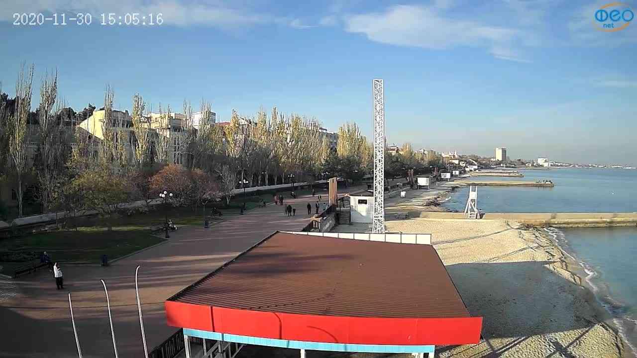 Веб-камеры Феодосии, Пляж Камешки, 2020-11-30 15:05:26