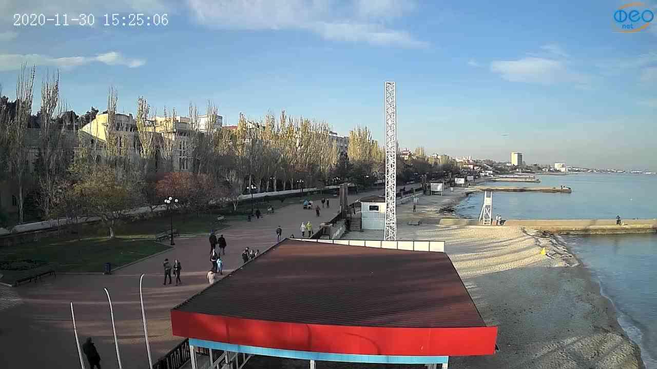 Веб-камеры Феодосии, Пляж Камешки, 2020-11-30 15:25:17
