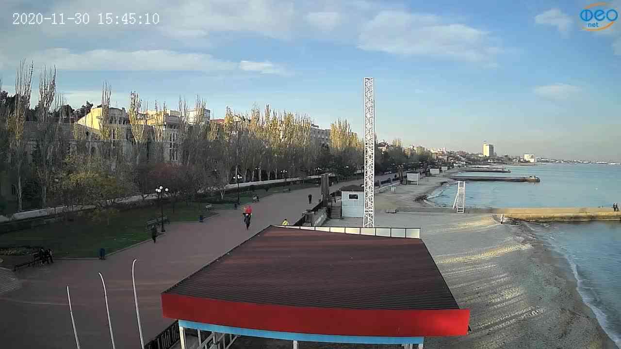 Веб-камеры Феодосии, Пляж Камешки, 2020-11-30 15:45:22