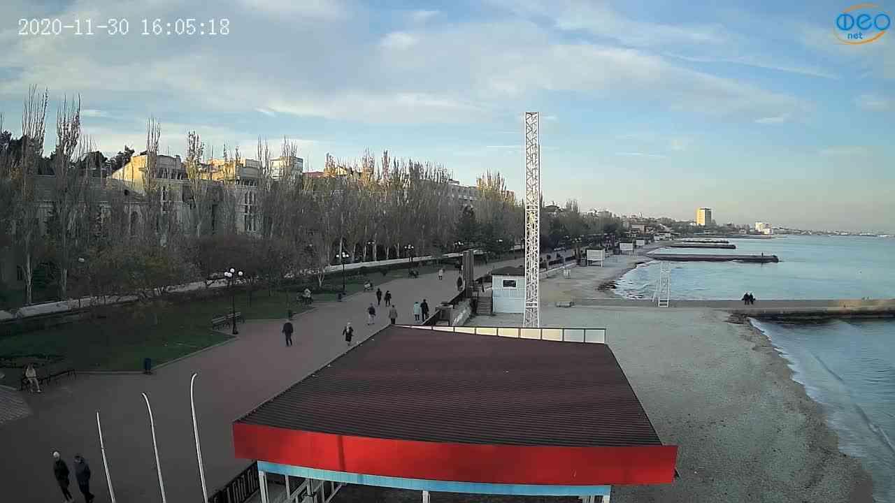 Веб-камеры Феодосии, Пляж Камешки, 2020-11-30 16:05:27