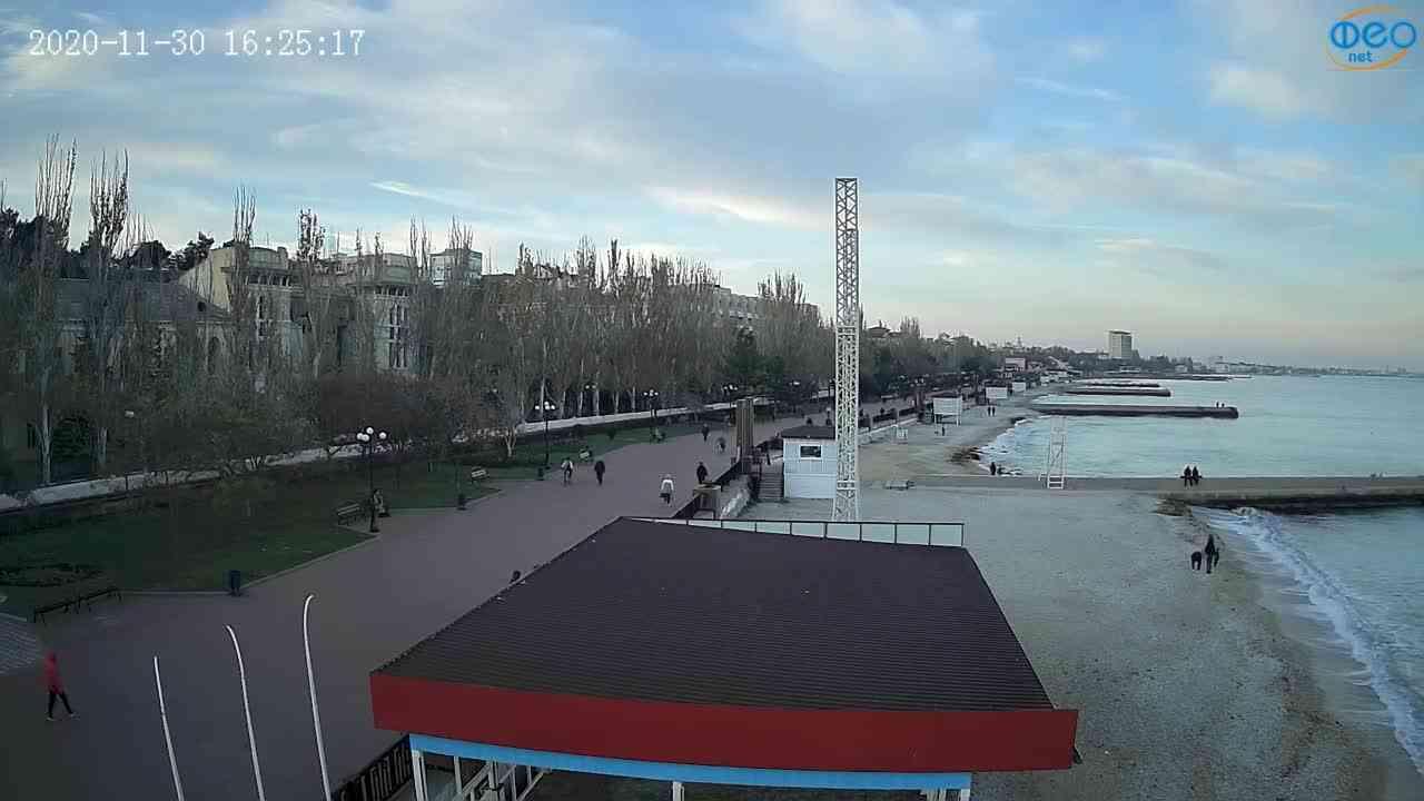 Веб-камеры Феодосии, Пляж Камешки, 2020-11-30 16:25:25
