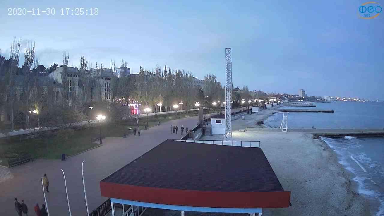 Веб-камеры Феодосии, Пляж Камешки, 2020-11-30 17:25:26