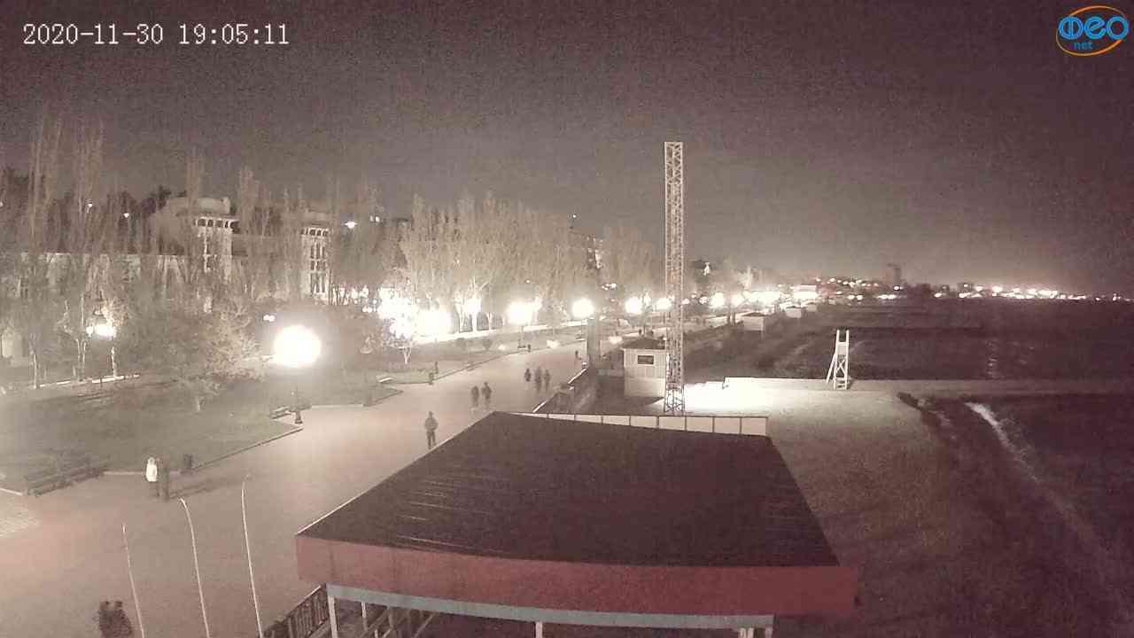 Веб-камеры Феодосии, Пляж Камешки, 2020-11-30 19:05:22