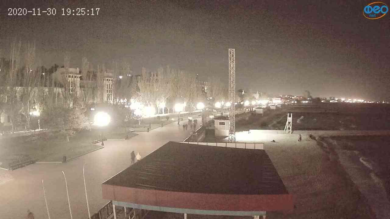 Веб-камеры Феодосии, Пляж Камешки, 2020-11-30 19:25:25