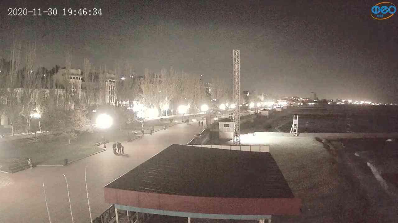 Веб-камеры Феодосии, Пляж Камешки, 2020-11-30 19:46:51