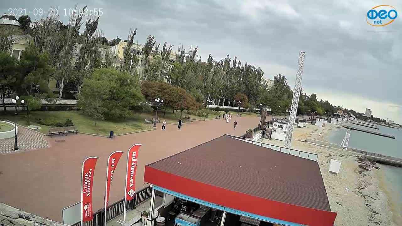 Веб-камеры Феодосии, Пляж Камешки, 2021-09-20 10:03:06