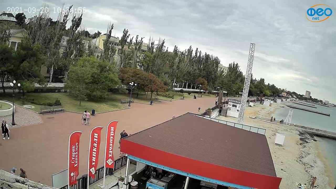 Веб-камеры Феодосии, Пляж Камешки, 2021-09-20 10:35:20