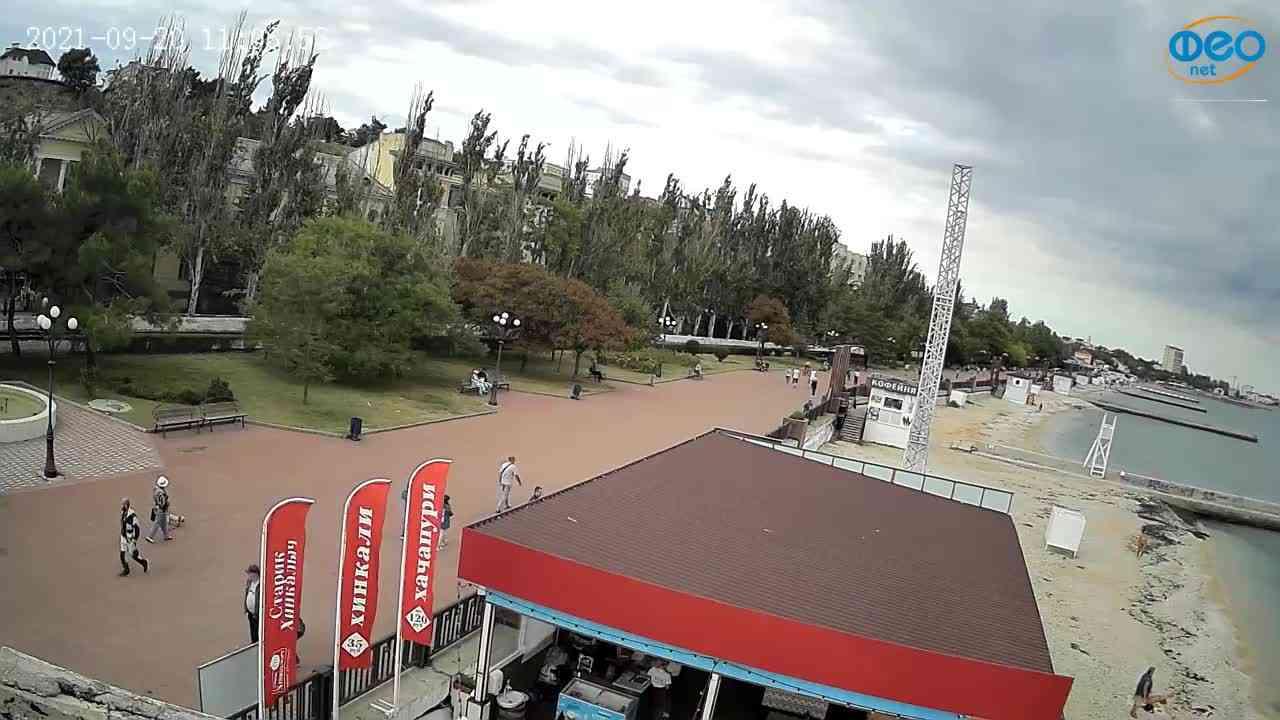 Веб-камеры Феодосии, Пляж Камешки, 2021-09-20 11:07:08