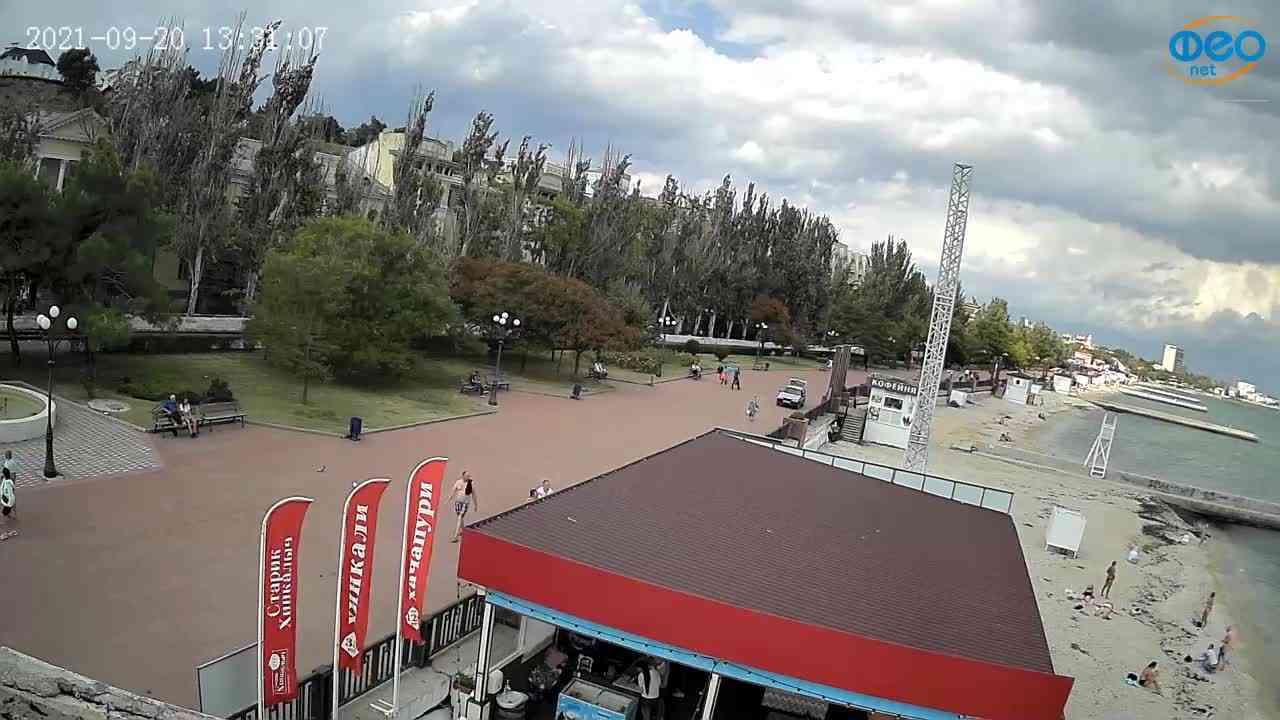 Веб-камеры Феодосии, Пляж Камешки, 2021-09-20 13:31:15