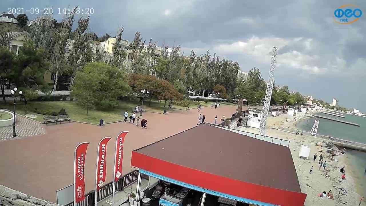 Веб-камеры Феодосии, Пляж Камешки, 2021-09-20 14:03:34